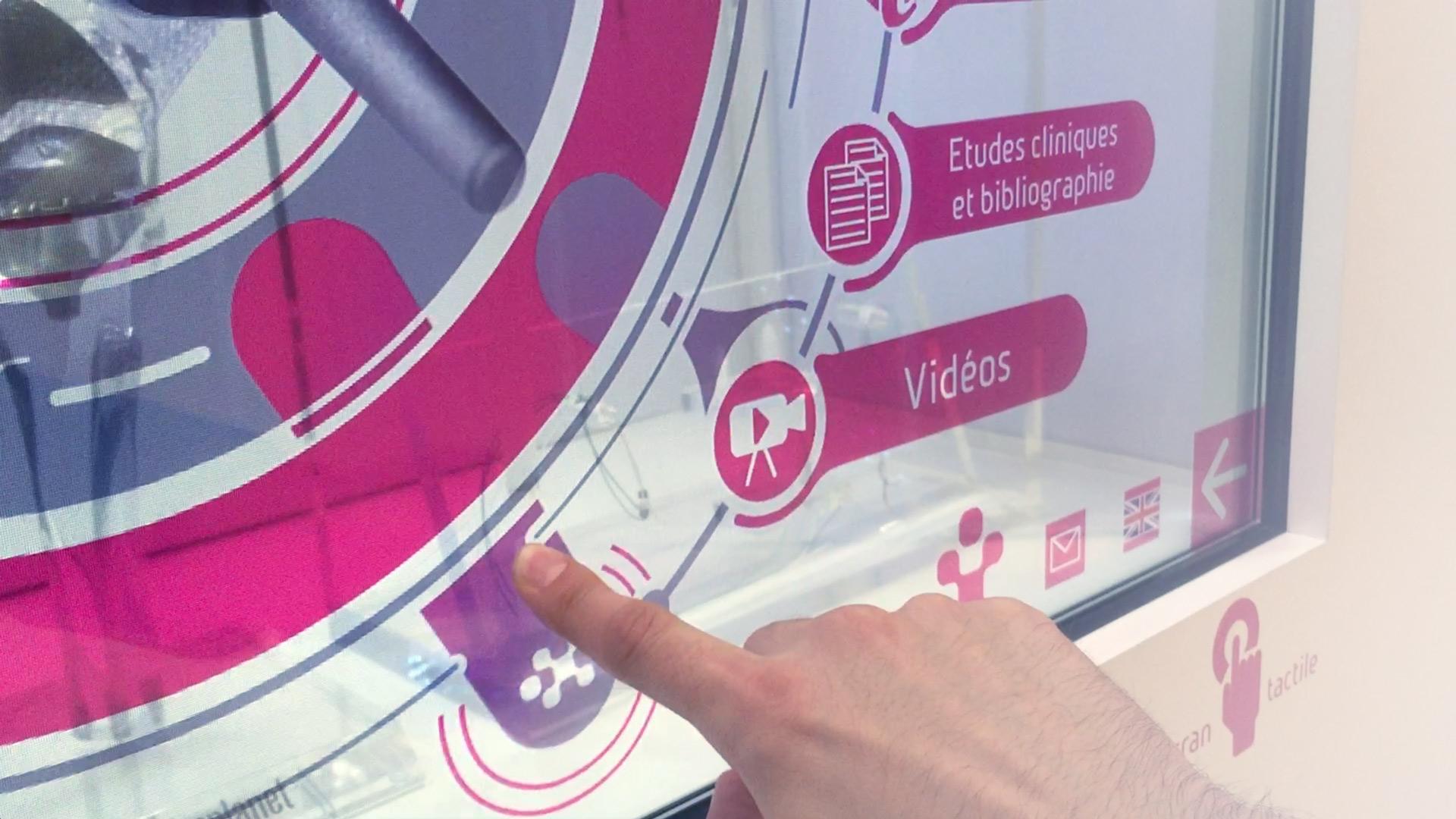 Design interactif pour un écran transparent